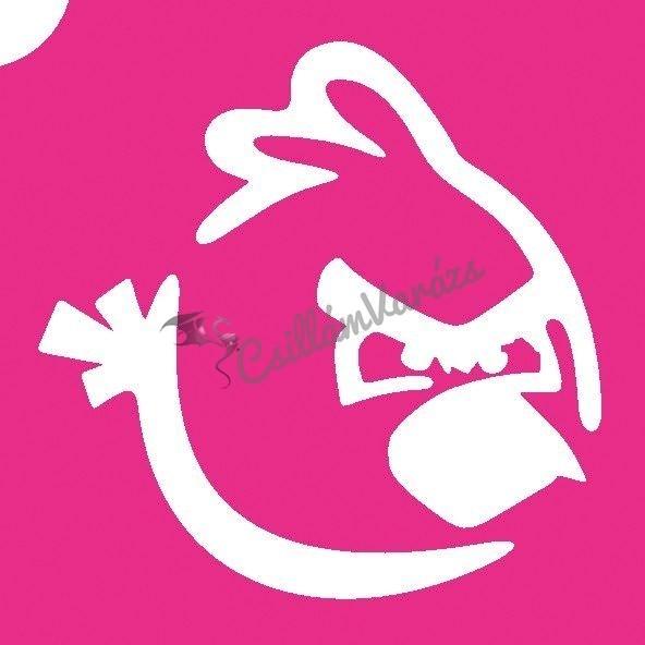 Angry Birds 02 csillámtetoválás sablon