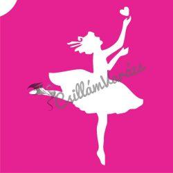 Balerina 02 csillámtetoválás sablon