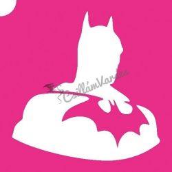 Batman 01 csillámtetoválás sablon