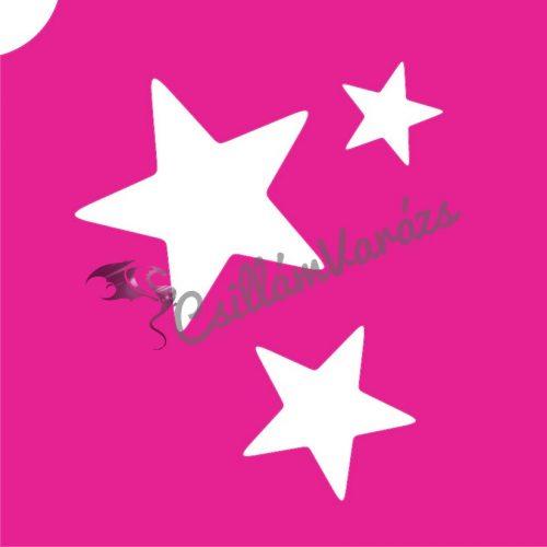 Csillagok 07 csillámtetoválás sablon