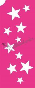 Csillagok 01 csillámtetoválás sablon