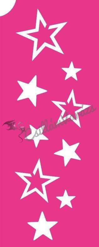 Csillagok 02 csillámtetoválás sablon