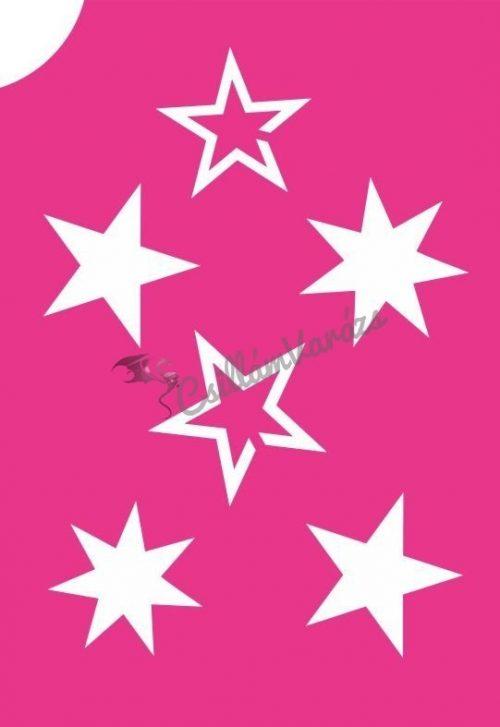 Csillagok 05 csillámtetoválás sablon