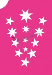 Csillagok 06 csillámtetoválás sablon