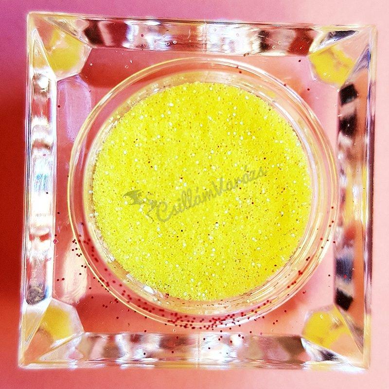 Csillámpor 010 élénk sárga