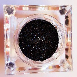 Csillámpor 011 fekete