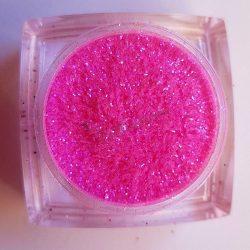 Csillámpor 036 neon pink csillogó
