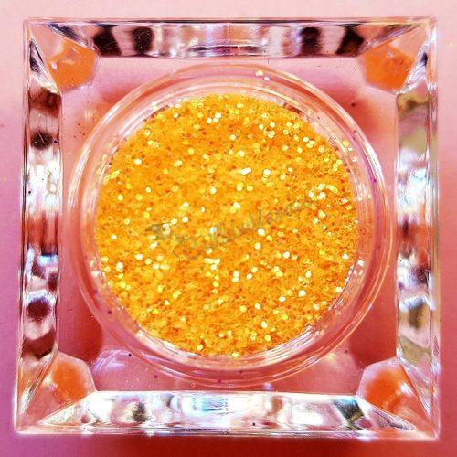 Csillámpor 048 világos orange