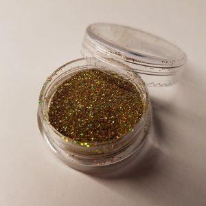 Holografikus csillámpor 074 világos arany