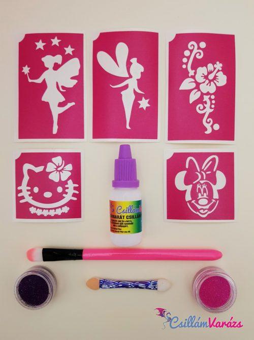 Kislány csillámtetoválás mini csomag A 2