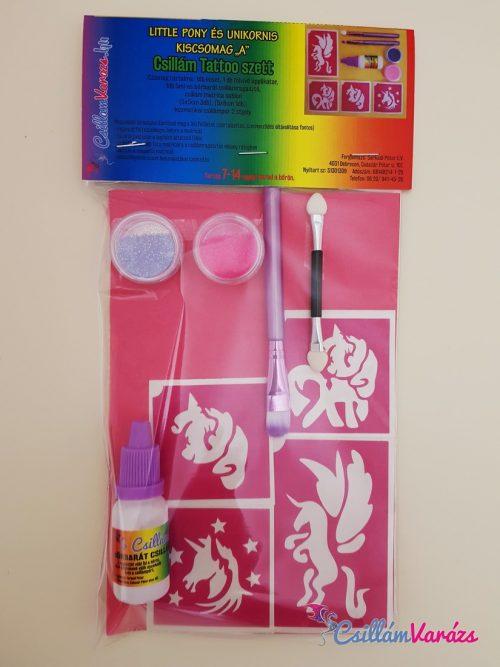 My Little Pony és Unikornis csillámtetoválás szett