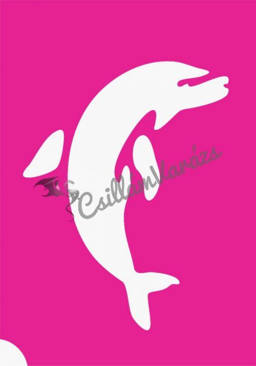 Delfin 14 csillámtetoválás sablon