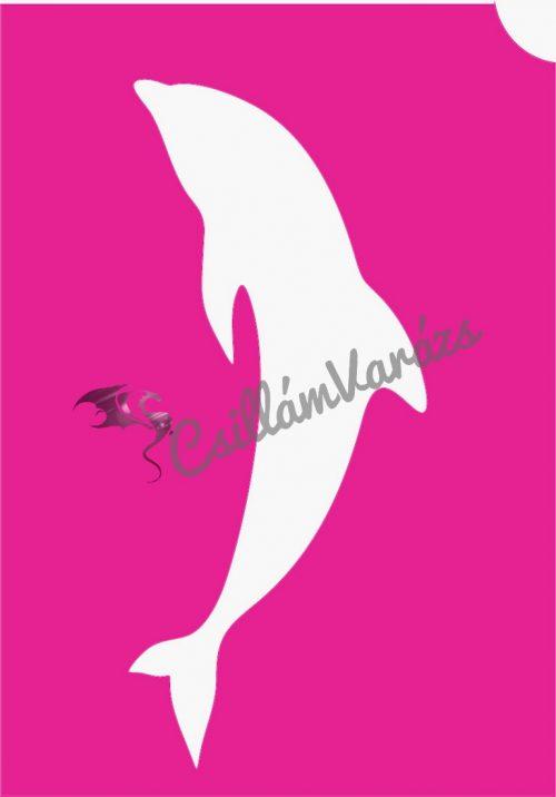Delfin 16 csillámtetoválás sablon