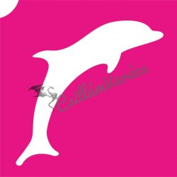 Delfin 17 csillámtetoválás sablon