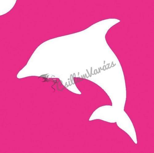 Delfin 03 csillámtetoválás sablon