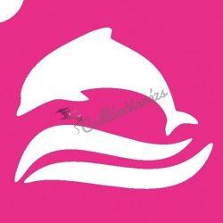 Delfin 05 csillámtetoválás sablon