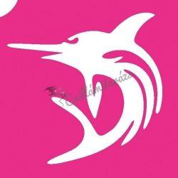 Delfin 08 csillámtetoválás sablon
