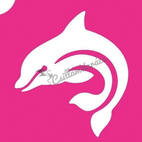 Delfin 11 csillámtetoválás sablon