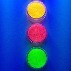 Fényes csillogó neon csillámpor