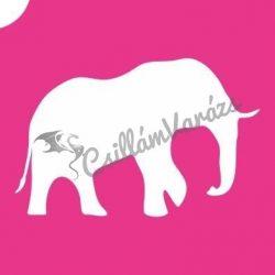 Elefánt 02 csillámtetoválás sablon