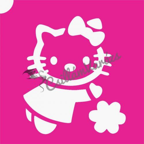 Hello Kitty 06 csillámtetoválás sablon