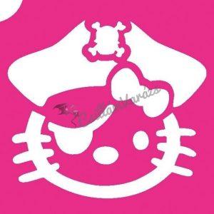 Hello Kitty 01 csillámtetoválás sablon