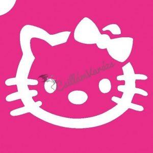 Hello Kitty 02 csillámtetoválás sablon
