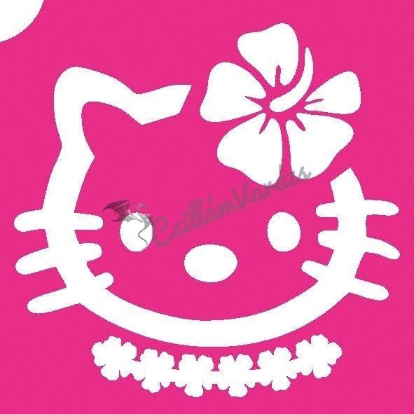 Hello Kitty 03 csillámtetoválás sablon