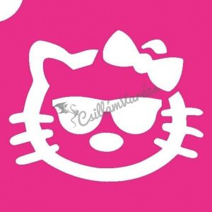 Hello Kitty 04 csillámtetoválás sablon