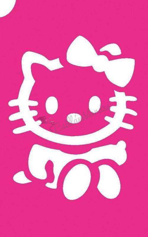 Hello Kitty 05 csillámtetoválás sablon