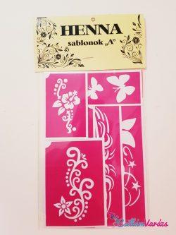 Henna sablonok A - Öntapadó minták henna tetováláshoz