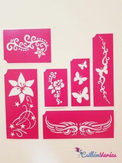 Henna sablonok A - Öntapadó minták henna tetováláshoz 2