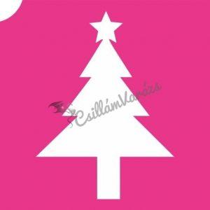 Karácsony 02 csillámtetoválás sablon