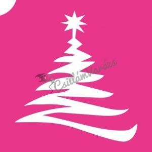 Karácsony 03 csillámtetoválás sablon