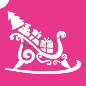 Karácsony 09 csillámtetoválás sablon