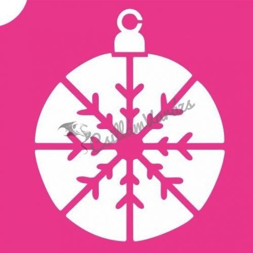 Karácsony 19 csillámtetoválás sablon