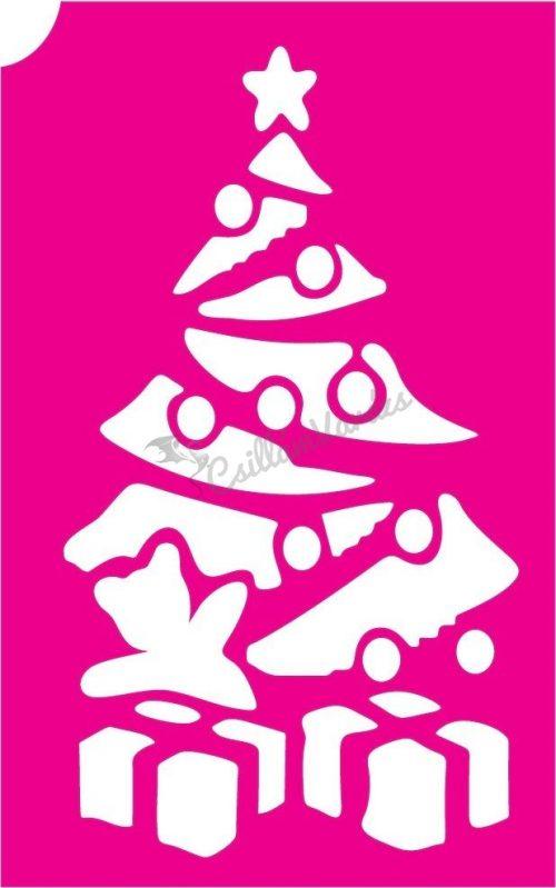 Karácsony 24 csillámtetoválás sablon