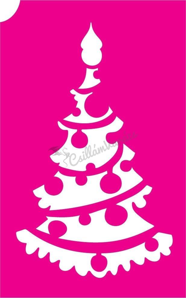 Karácsony 25 csillámtetoválás sablon