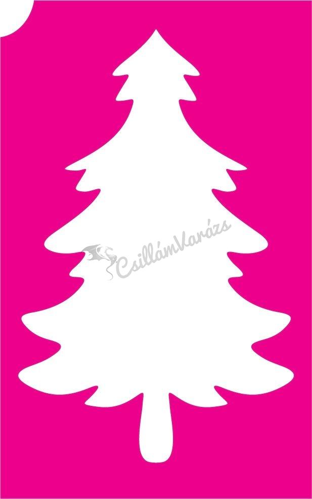 Karácsony 30 csillámtetoválás sablon