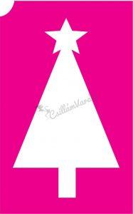 Karácsony 31 csillámtetoválás sablon