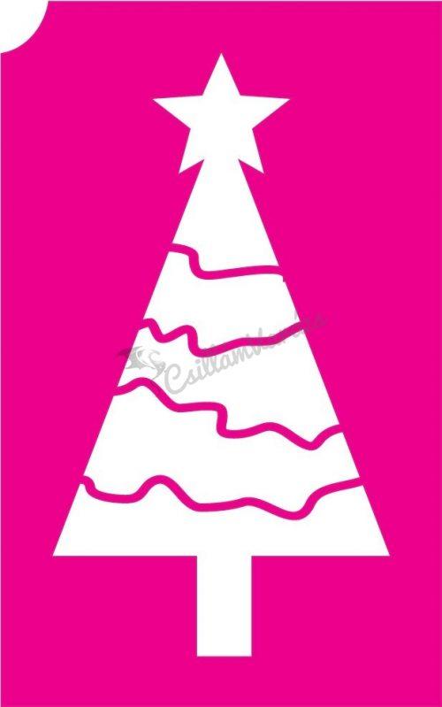 Karácsony 35 csillámtetoválás sablon