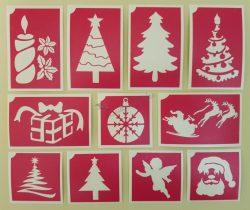 11 db-os karácsonyi sablon szett