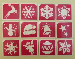 12 db-os karácsonyi sablon szett