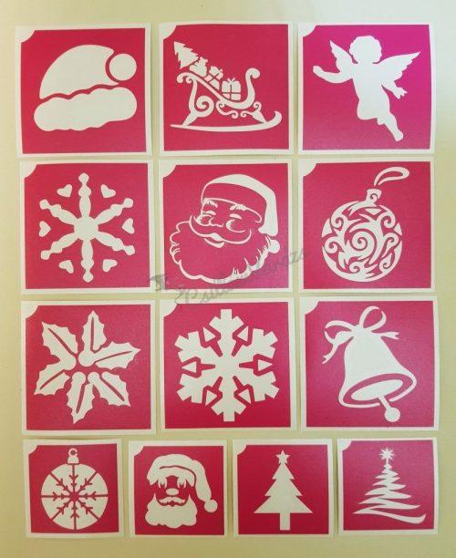 13 db-os karácsonyi sablon szett