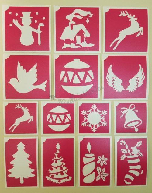 14 db-os karácsonyi sablon szett 02