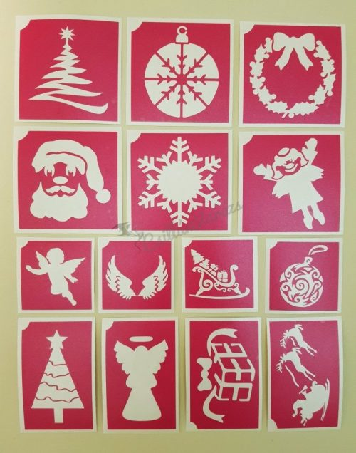 14 db-os karácsonyi sablon szett