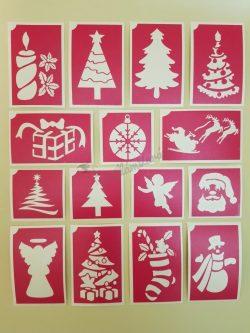 15 db-os karácsonyi sablon szett