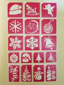 17 db-os karácsonyi sablon szett