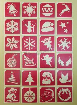 24 db-os karácsonyi sablon szett