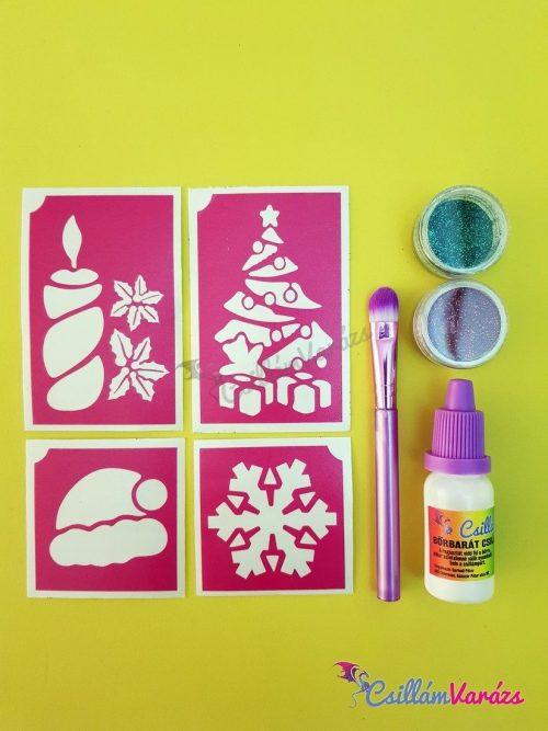 Karácsonyi csillámtetoválás mini csomag